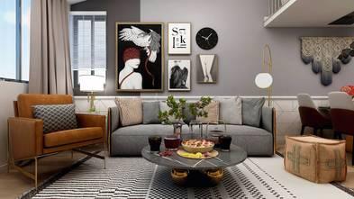 80平米一居室欧式风格客厅装修效果图