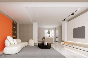 豪华型140平米三室两厅英伦风格客厅装修案例