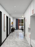 90平米中式风格走廊图