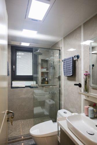 富裕型80平米公寓现代简约风格卫生间设计图