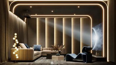 豪华型140平米现代简约风格影音室图片