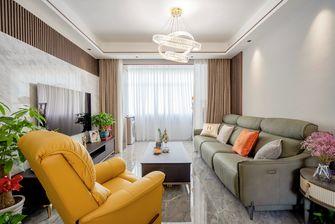 富裕型100平米三室三厅现代简约风格客厅图