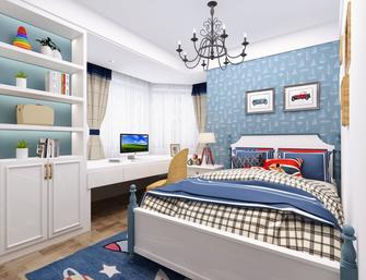 110平米三室两厅地中海风格卧室装修图片大全