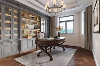 豪华型140平米别墅欧式风格书房装修案例