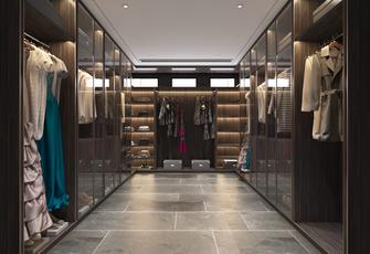 豪华型140平米别墅中式风格衣帽间设计图