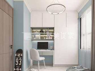 富裕型100平米三室两厅现代简约风格青少年房欣赏图