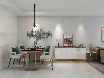 经济型110平米三室三厅轻奢风格餐厅装修图片大全