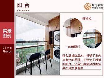 富裕型三室两厅北欧风格阳台欣赏图