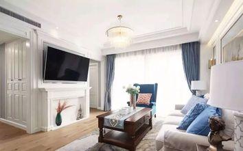 110平米三室一厅美式风格玄关图片