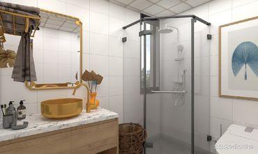 富裕型90平米三日式风格卫生间设计图