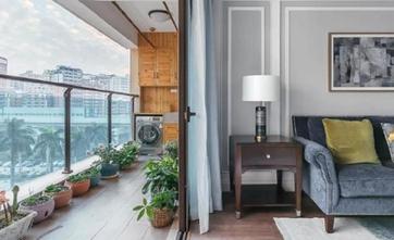 140平米三室两厅美式风格阳台装修案例