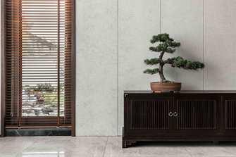 富裕型100平米三室一厅中式风格客厅图