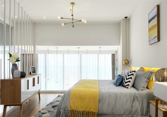 10-15万60平米复式北欧风格卧室装修图片大全