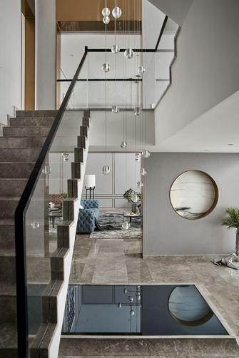 豪华型140平米别墅轻奢风格楼梯间图片大全