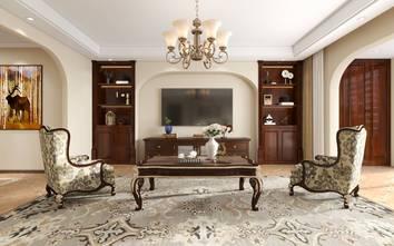 豪华型140平米四室三厅中式风格客厅效果图