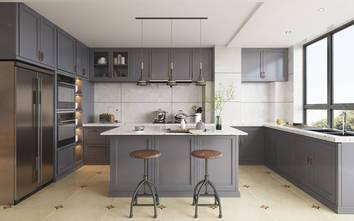 120平米三室两厅法式风格厨房设计图