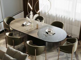 豪华型120平米三室一厅轻奢风格餐厅装修图片大全
