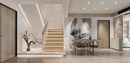 140平米别墅日式风格餐厅图片