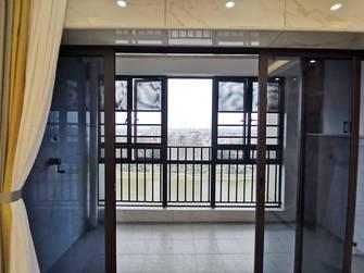 富裕型100平米三室两厅现代简约风格阳台欣赏图