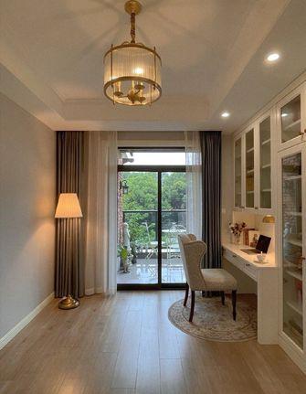 130平米三室两厅美式风格书房效果图