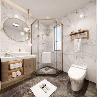 20万以上130平米四室两厅法式风格卫生间装修案例