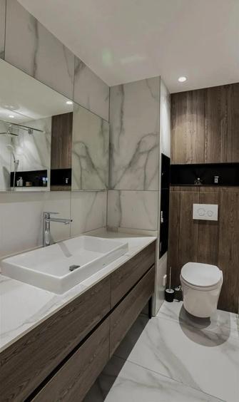 经济型140平米三室两厅现代简约风格卫生间图片大全
