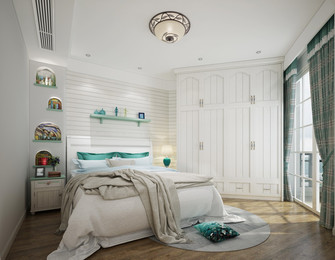 20万以上120平米三室两厅田园风格卧室装修效果图