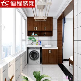 经济型130平米三室两厅中式风格阳台设计图