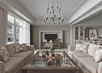 豪华型140平米别墅美式风格客厅效果图