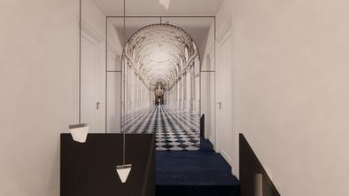 新古典风格楼梯间效果图