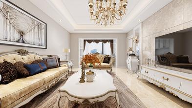 富裕型100平米三室两厅法式风格客厅装修图片大全