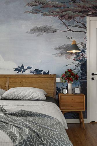 富裕型100平米三室一厅北欧风格卧室图片大全