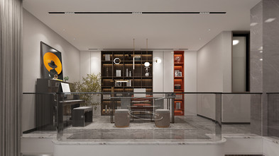 140平米复式轻奢风格书房图片大全