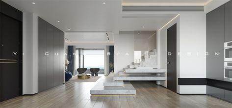 豪华型140平米复式混搭风格楼梯间图片