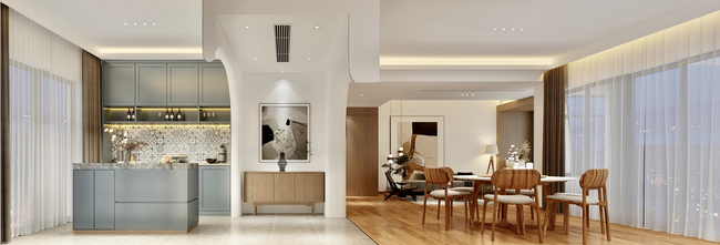 富裕型120平米三室两厅混搭风格厨房装修案例