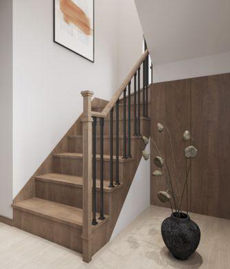 富裕型110平米复式新古典风格楼梯间装修图片大全