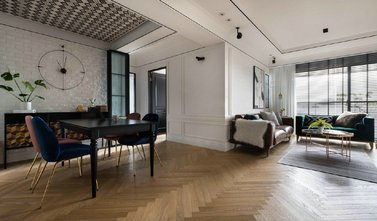 120平米三室两厅美式风格餐厅装修图片大全