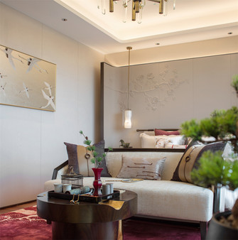 20万以上140平米别墅中式风格卧室图片
