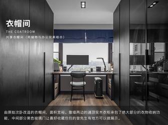 富裕型90平米三室两厅现代简约风格衣帽间效果图