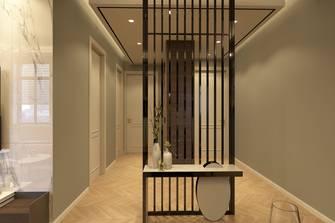 富裕型90平米三室两厅现代简约风格玄关效果图
