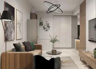 经济型60平米现代简约风格客厅图