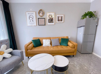 经济型90平米三室两厅北欧风格客厅设计图
