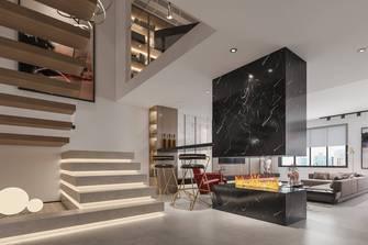 豪华型120平米三室两厅混搭风格楼梯间效果图