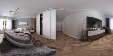 富裕型90平米三室两厅现代简约风格卧室装修案例