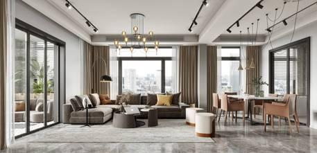 5-10万110平米三室两厅法式风格客厅图