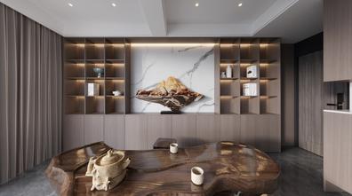 豪华型140平米三室四厅现代简约风格书房装修图片大全