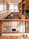 富裕型三室两厅日式风格书房效果图