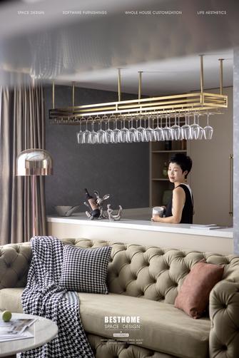 20万以上120平米四室四厅美式风格厨房设计图