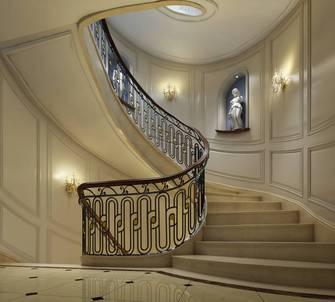 20万以上140平米别墅新古典风格楼梯间装修效果图