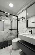 经济型90平米三室两厅现代简约风格卫生间图片